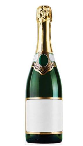 Bottle of Champagne Lifesize Cardboard Cutout - 188cm