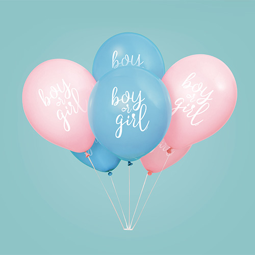 Boy or Girl Gender Reveal Latex Balloons 30cm / 12 in - Pack of 8 Product Image