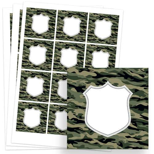 Army Design 65mm Square Sticker sheet of 12 Product Image