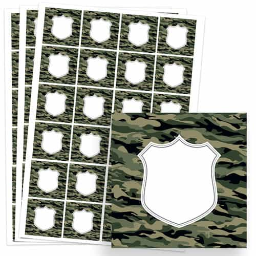 Army Design 40mm Square Sticker sheet of 24 Product Image