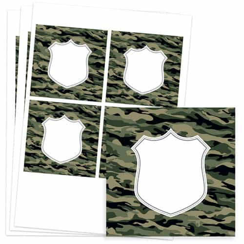 Army Design 95mm Square Sticker sheet of 4 Product Image