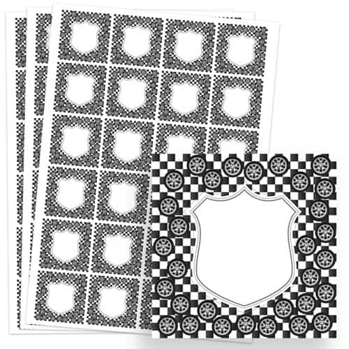 Cars Design 40mm Square Sticker sheet of 24 Product Image