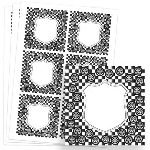 Cars Design 80mm Square Sticker sheet of 6 Product Image