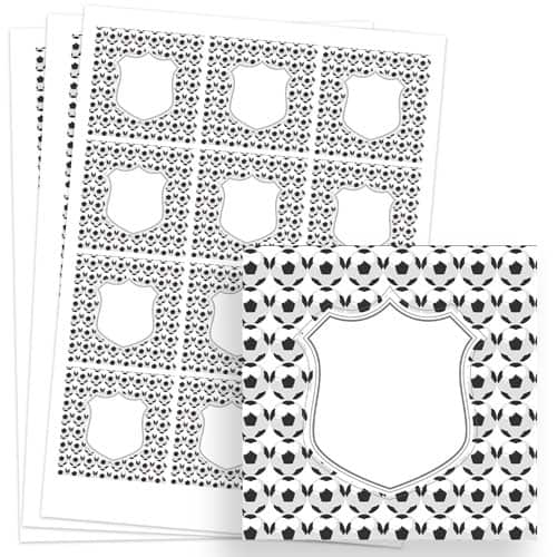 Football Design 65mm Square Sticker sheet of 12 Product Image