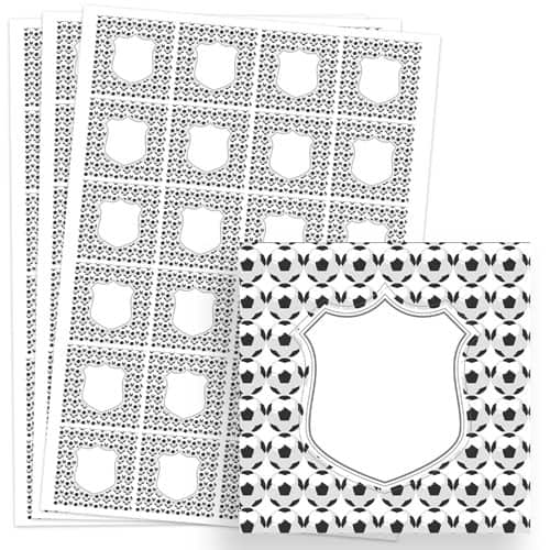 Football Design 40mm Square Sticker sheet of 24 Product Image