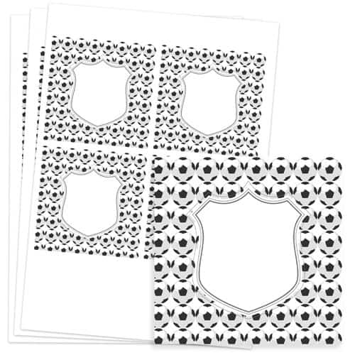 Football Design 95mm Square Sticker sheet of 4 Product Image