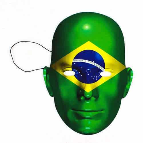 Brazil Flag Face Mask Product Image