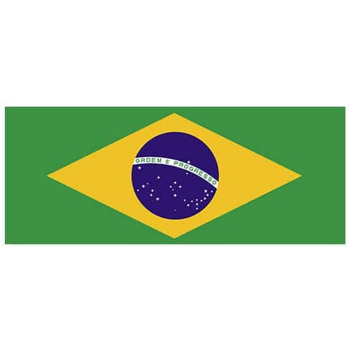 Brazil Flag PVC Party Sign Decoration 60cm x 24cm Product Image