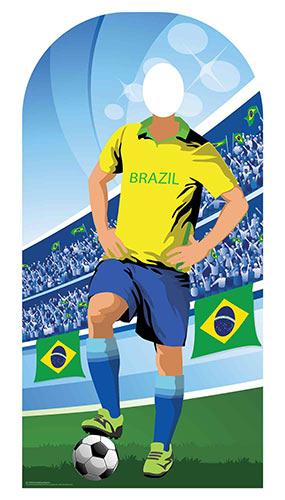 Brazil Football Stand-In Cardboard Cutout 190cm