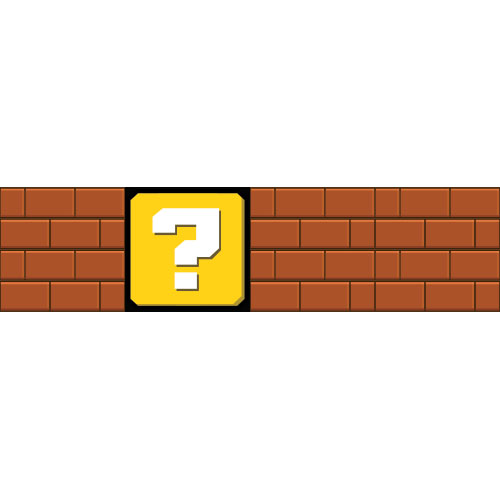 Brick Wall And Question Mark PVC Party Sign Decoration 124cm x 31cm Product Image
