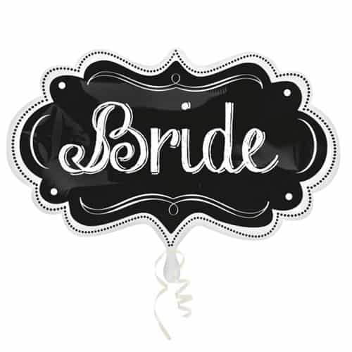 Bride Chalkboard Helium Foil Giant Balloon 68cm / 27 in Product Image