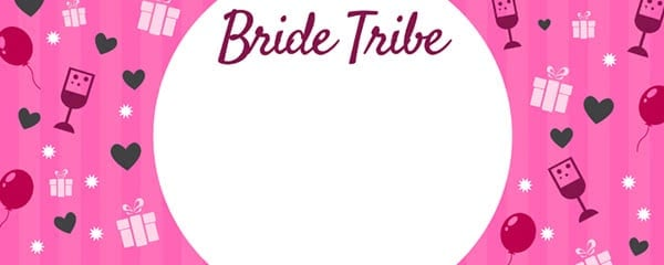 Bride Tribe Presents Design Large Personalised Banner - 10ft x 4ft