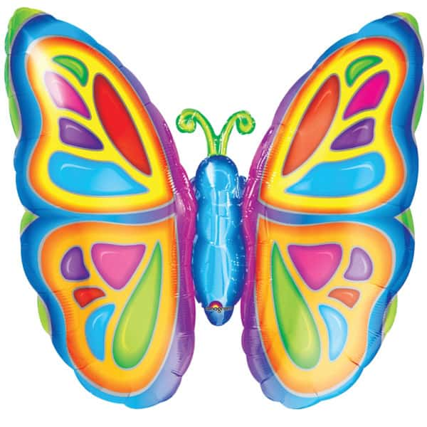 Bright Butterfly Helium Foil Giant Balloon 64cm / 25 in Product Image