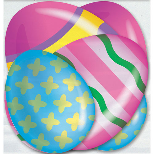 Bright Easter Eggs Assorted Decorative Mini Cutouts - Pack of 6 Product Image