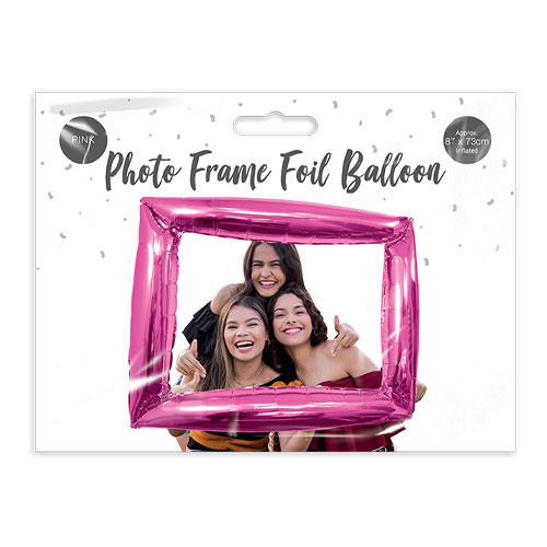 Bright Pink Photo Frame Air Fill Giant Foil Balloon 87cm / 34 in