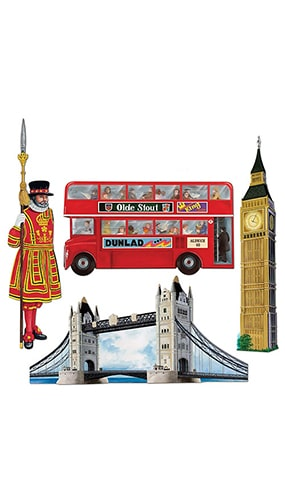 British Decorative Cutouts - 16 Inches / 41cm - Pack of 4 Product Image
