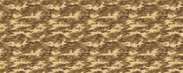 Brown Camouflage Design Small Personalised Banner - 4ft x 2ft