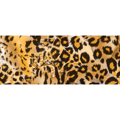 Brown Leopard Animal Print PVC Party Sign Decoration 60cm x 25cm Product Image