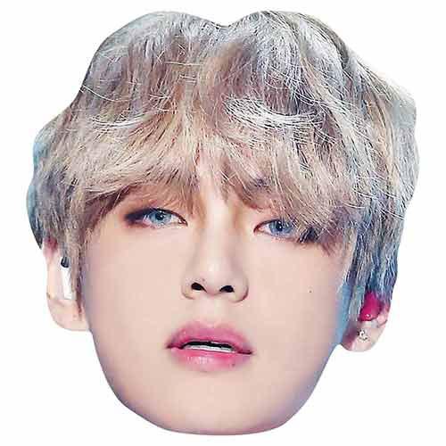 BTS K-Pop V Kim Tae-hyung Cardboard Face Mask Product Image