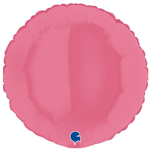 Bubblegum Round Foil Helium Balloon 46cm / 18 in