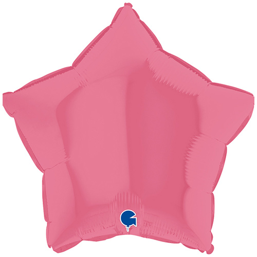 Bubblegum Star Foil Helium Balloon 46cm / 18 in Product Image