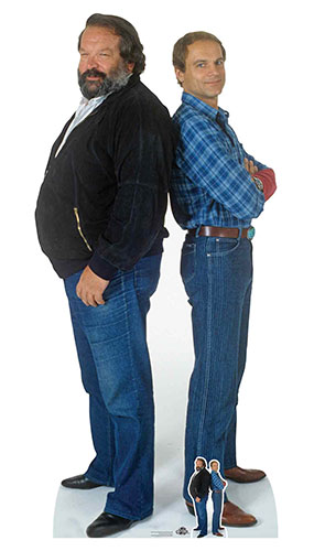 Bud Spencer and Terence Hill Lifesize Cardboard Cutout 196cm Product Image