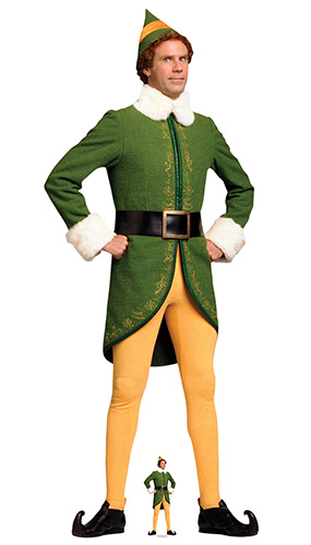 Buddy the Elf Classic Christmas Hands On Hips Lifesize Cardboard Cutout 188cm Product Image