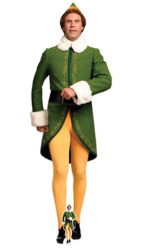 Buddy the Elf Marching Lifesize Cardboard Cutout 188cm Product Image