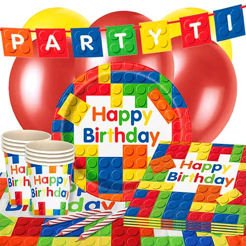 Building Blocks 16 Person Deluxe Party Pack