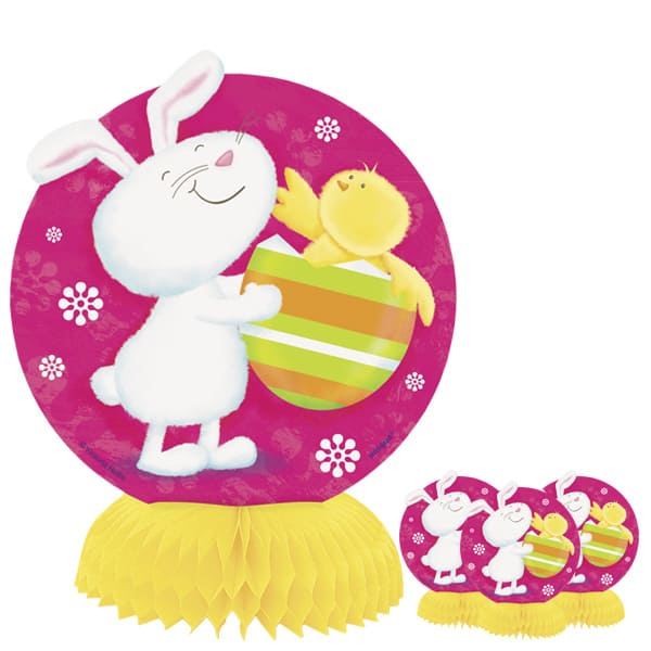Bunny Pals Honeycomb Decorations - 6 Inches / 15cm - Pack of 4 Product Image