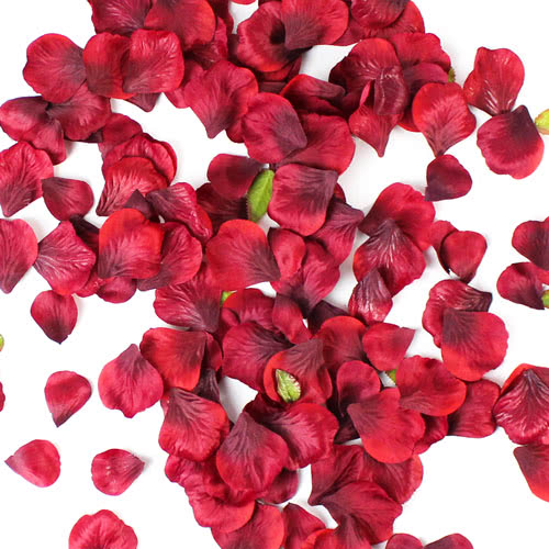 Burgundy Fabric Rose Petals