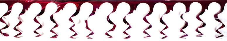 Burgundy Foil Spiral Garland - 18 Ft x 15 Inches / 549 x 38cm - Pack of 10
