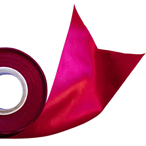 Burgundy Satin Faced Ribbon Reel 100mm x 25m Product Image