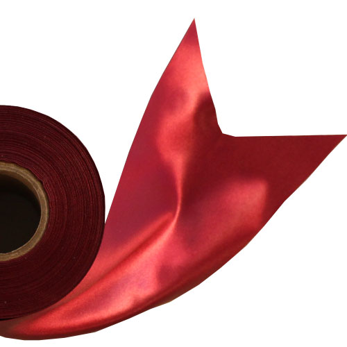 Burgundy Satin Faced Ribbon Reel 100mm x 50m Product Image
