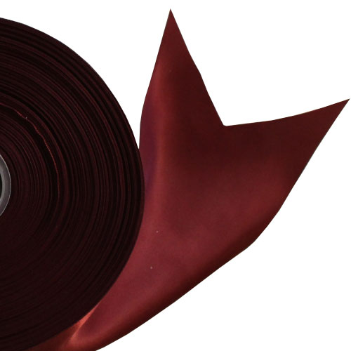 Burgundy Satin Faced Ribbon Reel 100mm x 91m Product Image
