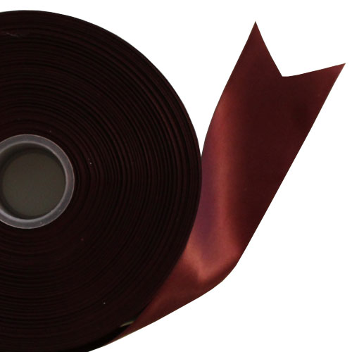 Burgundy Satin Faced Ribbon Reel 45mm x 91m Product Image