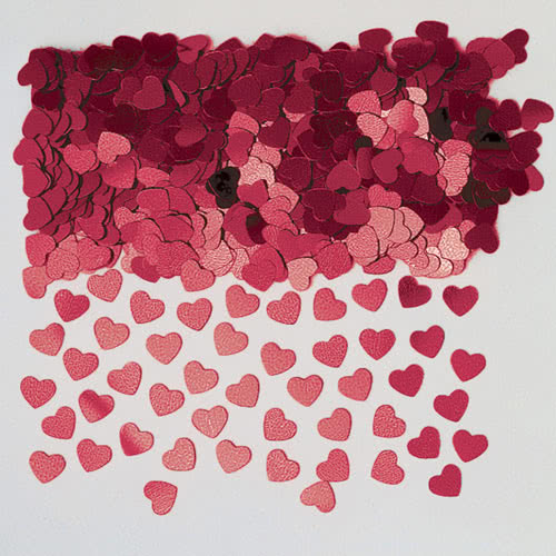 Burgundy Small Hearts Metallic Table Confetti 14 Grams Product Image