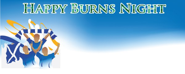 Burns Night Celebration Design Small Personalised Banner - 4ft x 2ft