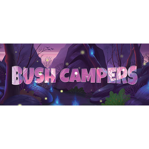 Bush Campers Forest Background PVC Party Sign Decoration 60cm x 25cm Product Image