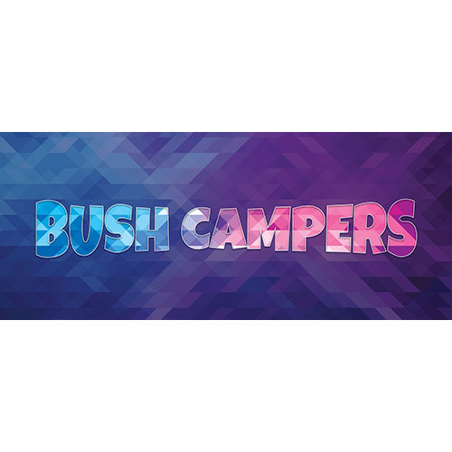 Bush Campers Home Screen Background PVC Party Sign Decoration 60cm x 25cm Product Image