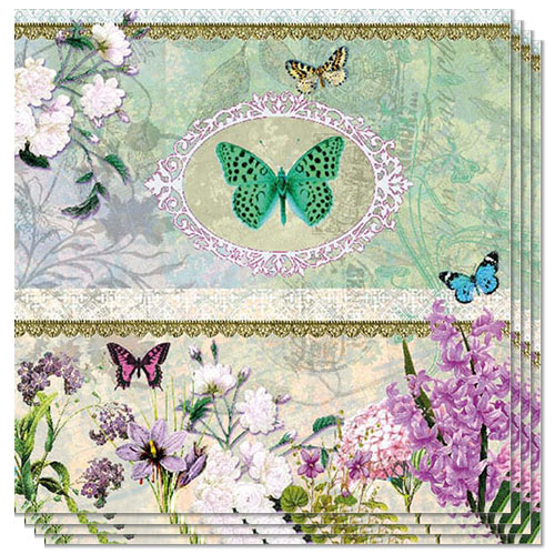 Butterfly Design Luncheon Napkins 3 Ply - 33cm - Pack of 20 Product Image