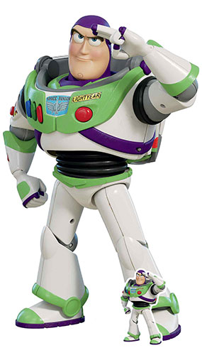 Buzz Lightyear Saluting Toy Story 4 Lifesize Cardboard Cutout 129cm Product Image