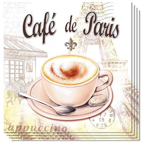 Cafe De Paris Luncheon Napkins 3Ply 33cm - Pack of 50 Product Image