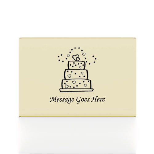 200 Ivory Printed Cake Boxes 8 x 6 x 2.5 cms