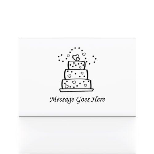 50 White Printed Cake Boxes 8 x 6 x 2.5 cms
