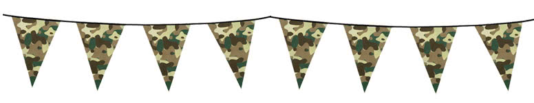 Camouflage Plastic Bunting 6m