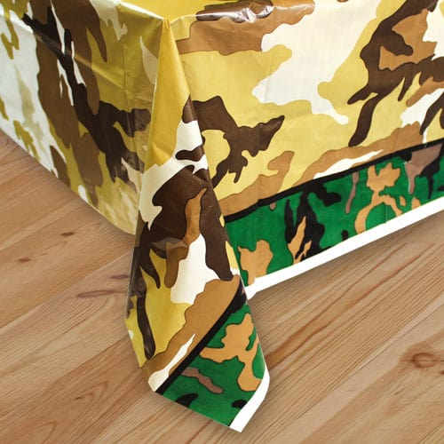 Camouflage Plastic Tablecover 213cm x 137cm