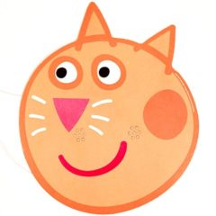 Peppa Pig Candy Cat Cardboard Face Mask Product Image