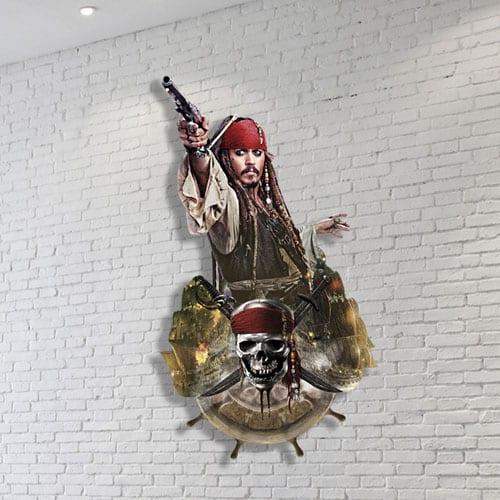 Captain Jack Sparrow Wall Art 100 x 54cm