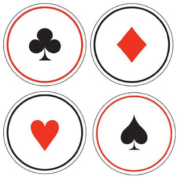 Card Night Paper Coasters - Pack of 6